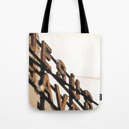 Jesus Saves sign Tote Bag