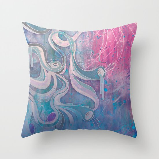 Electric Dreams Throw Pillow