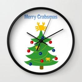 Merry Crabsmas Wall Clock