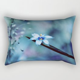 Blue on blue Flower Photography, Symphony in Blue Rectangular Pillow