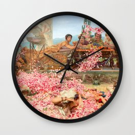 The Roses of Heliogabalus by Sir Lawrence Alma-Tadema Wall Clock