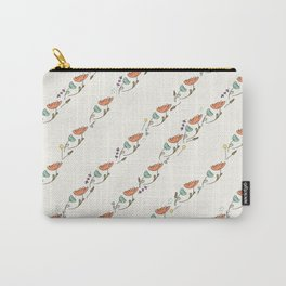 Geometric Florals Pattern Carry-All Pouch