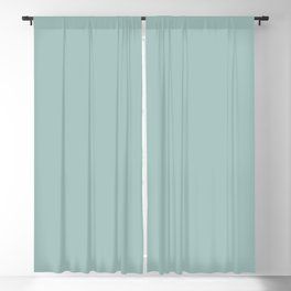 Pale Pastel Aqua Green Blue Solid Color Pairs to Sherwin Williams Aquaverde SW 9051 Blackout Curtain