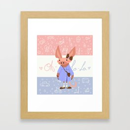 Little Missy  Aardvark in France! Framed Art Print