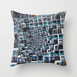 Abstract Infinity Throw Pillow