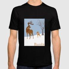 Bambi MEDIUM Black Mens Fitted Tee