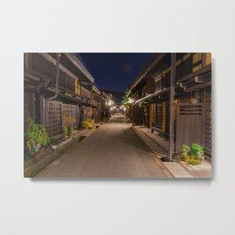 Takayama at Night Metal Print