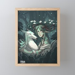 The guardian of the great forest Framed Mini Art Print