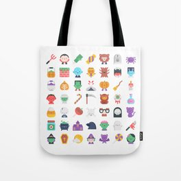 CUTE HALLOWEEN COSTUME FALL PATTERN Tote Bag