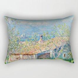 "Claude Monet ""Gardener's House at Antibes"", 1888 Rectangular Pillow"