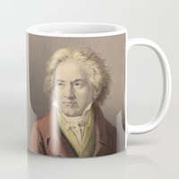 beethoven Mugs featuring Beethoven by Palazzo Art Gallery