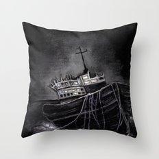 Dark Voyage Throw Pillow
