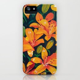 Daylilies in the Garden iPhone Case