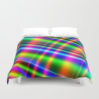 bands Duvet Covers featuring Bands of Beauty by Sartoris ART