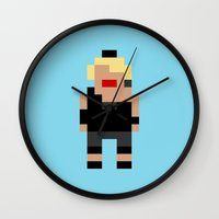 madonna Wall Clocks featuring Madonna by Pixel Icons