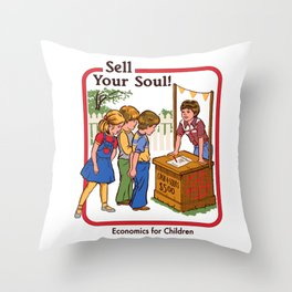 SELL YOUR SOUL Throw Pillow