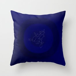Blue Ornament Cricle Throw Pillow