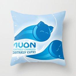Muon! Throw Pillow