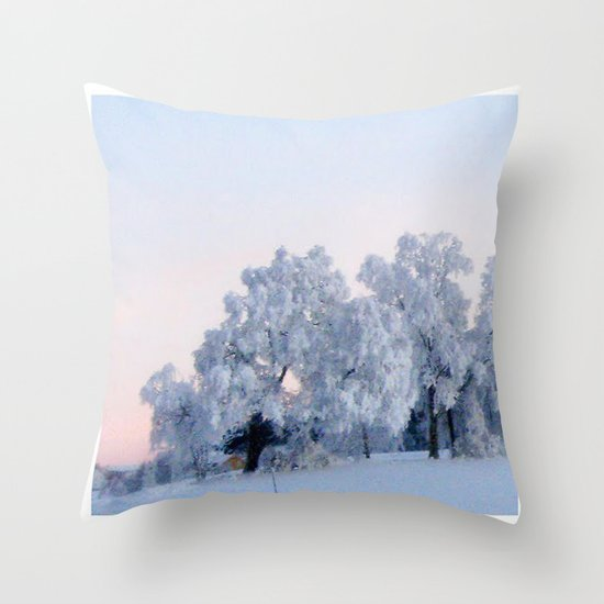 A cold day in Paradise Throw Pillow