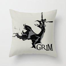 GRIM Throw Pillow