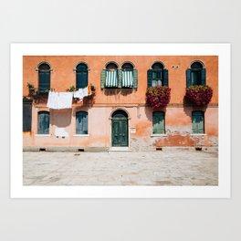 Old house in Murano island Art Print