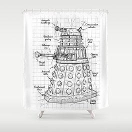 Extermination project Shower Curtain