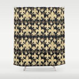 FLEUR DE LIS ...LAYERED.. Shower Curtain
