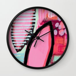 I have all the answers - abstract painting Wall Clock