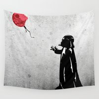 banksy Wall Tapestries featuring Little Vader - Inspired by Banksy by kamonkey