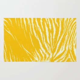 Tiger print Yellow Rug