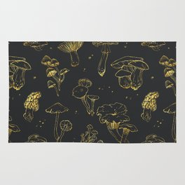 Golden mushrooms Rug
