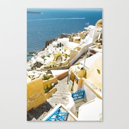 Santorini City Canvas Print