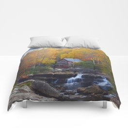 Glade Creek Mill in Autumn Comforters