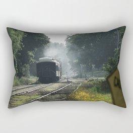 Leaving Train Rectangular Pillow