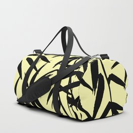 Yellow And Black, Watercolor Bamboo Seamless Pattern Duffle Bag