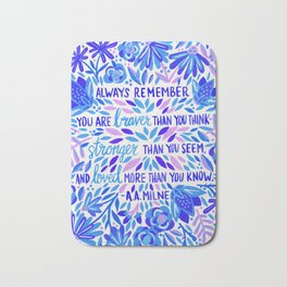 Always Remember – Indigo Palette Bath Mat