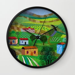 Santa Barbara Wine and Cheese Wall Clock