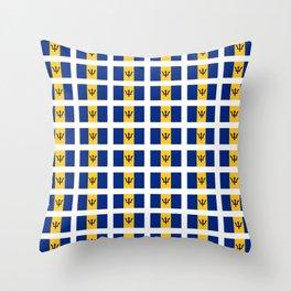 flag of Barbade-barbade,bajan,Barbadian,Bridgetown,barbados. Throw Pillow
