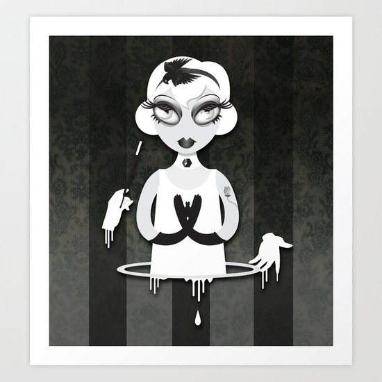 Whiteout: The Disappearance Act Art Print
