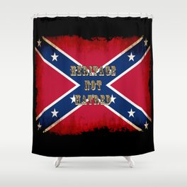Heritage, not Hatred - US Southern Cross Flag Shower Curtain