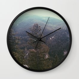 vintage forest background Wall Clock