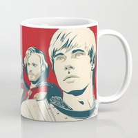 merlin Mugs featuring Join Camelot's Knights - Merlin by Olivia Desianti