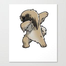 Funny Dabbing Pekingese Dog Dab Dance Canvas Print