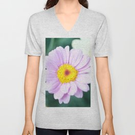 Soft Pink Marguerite Daisy Flower #1 #decor #art #society6 Unisex V-Neck