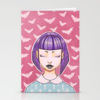 goth Stationery Cards featuring Pastel Goth by IMEON2