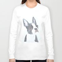 boston terrier Long Sleeve T-shirts featuring Boston Terrier by S'ANNie