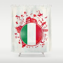 italian circle background Shower Curtain