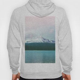 Mountain Lake - Nature Photography - Turquoise Teal Pink Hoody