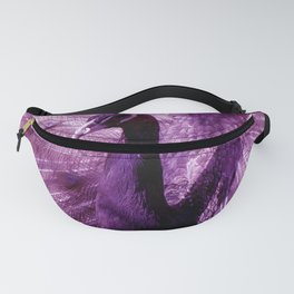 Purple Peacock Fanny Pack