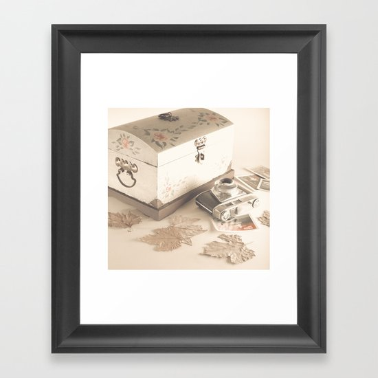 Remembers (vintage still life photography) Framed Art Print